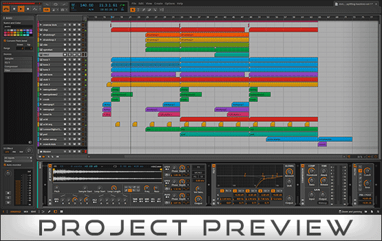 Bitwig Studio Project Preview