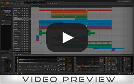 Bitwig Studio Project Video Preview