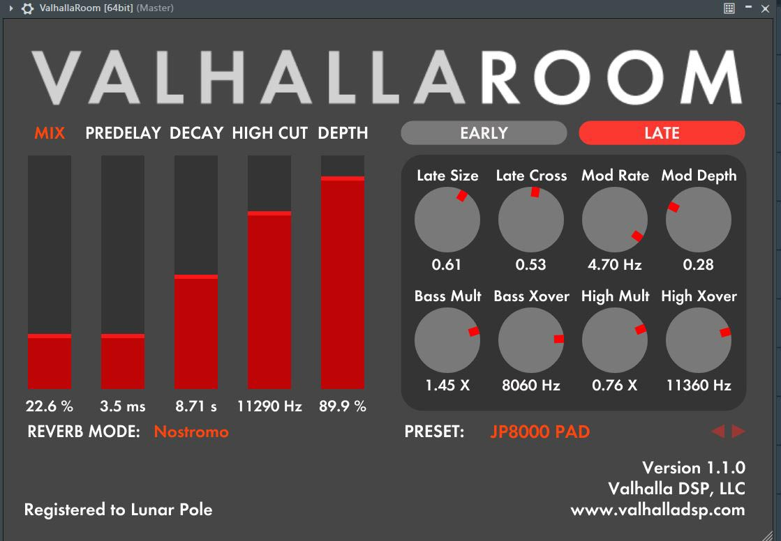 Lunar Pole ValhallaRoom Reverb Essentials Volume 1