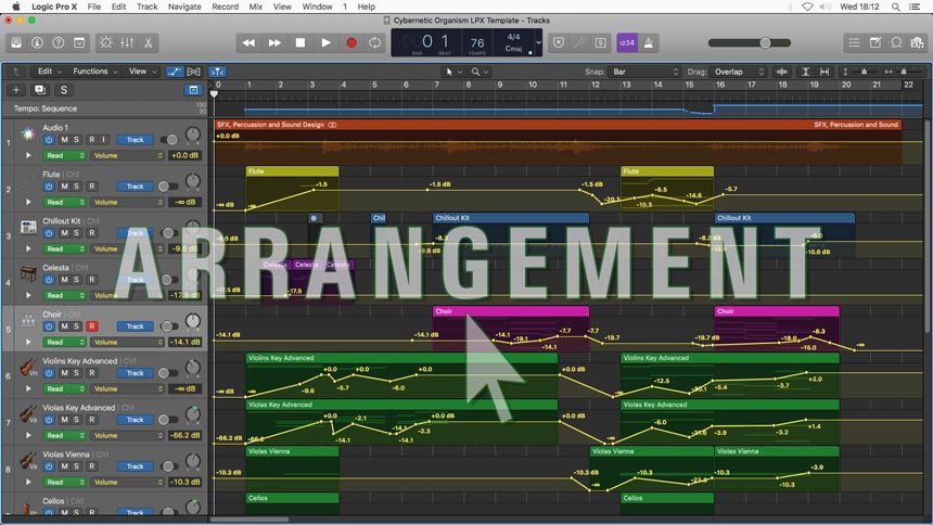 Cybernetic Organism - Logic Pro X Template Arrangement