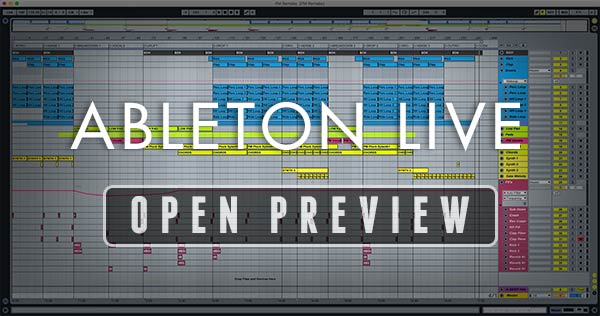 Ableton Live Project Window Screenshot Preview