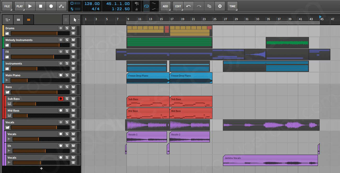 download bitwig project