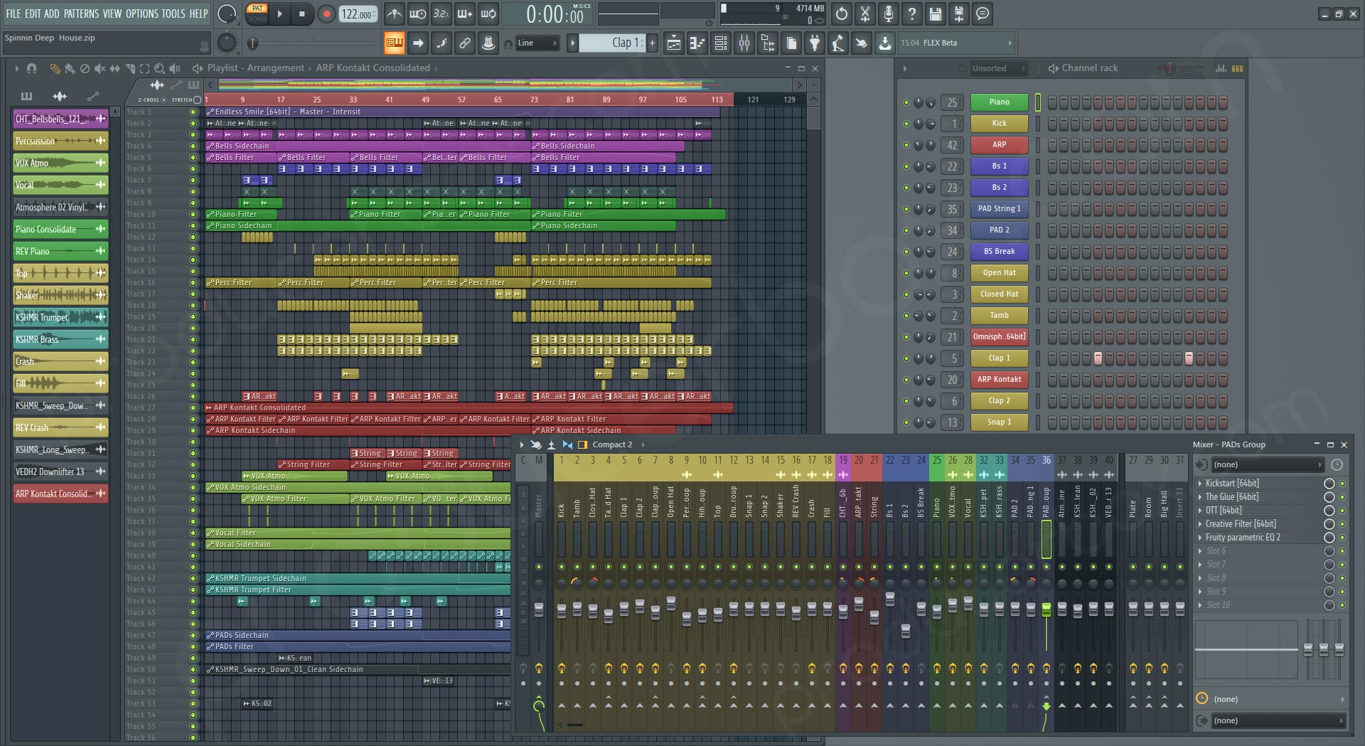 Spinnin Deep & House FL Studio Template