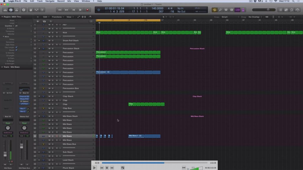 Adam Ellis - Logic Pro Tutorial Vol. 2 - Structure & Starting Track Screenshot #2