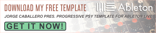 Jorge Caballero Pres. Progressive Psy Template For Ableton Live