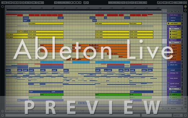 Ableton Live Preview Screenshot