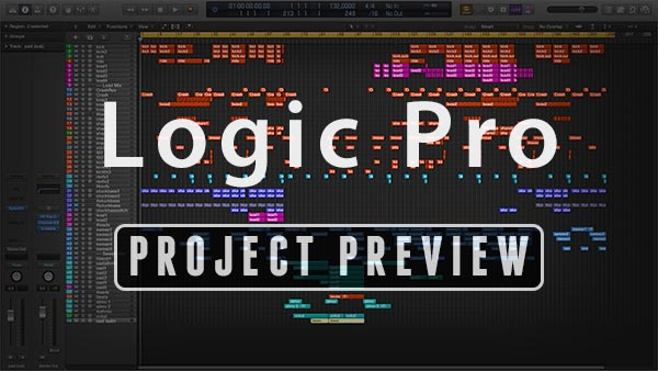 Logic Pro Template Preview Window