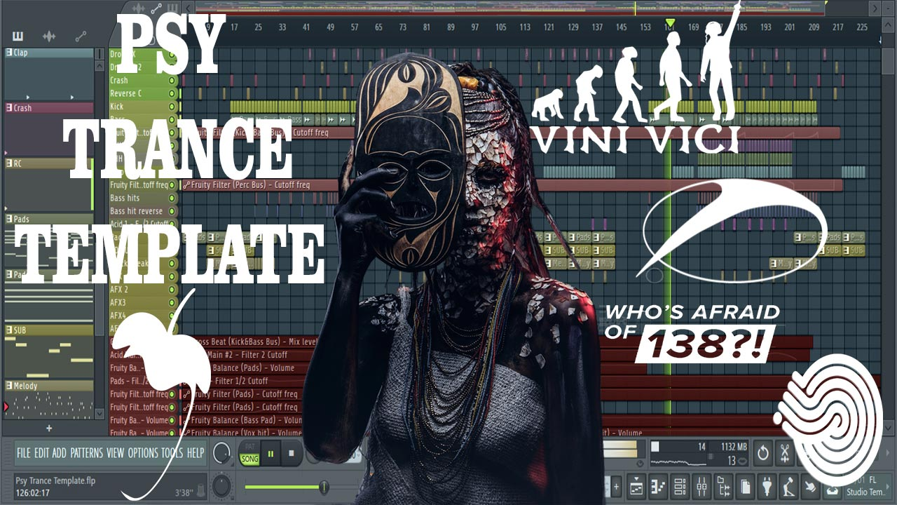 The New Psy Trance FL Studio Project (WAO138, Iboga, Vini Vici Astrix)