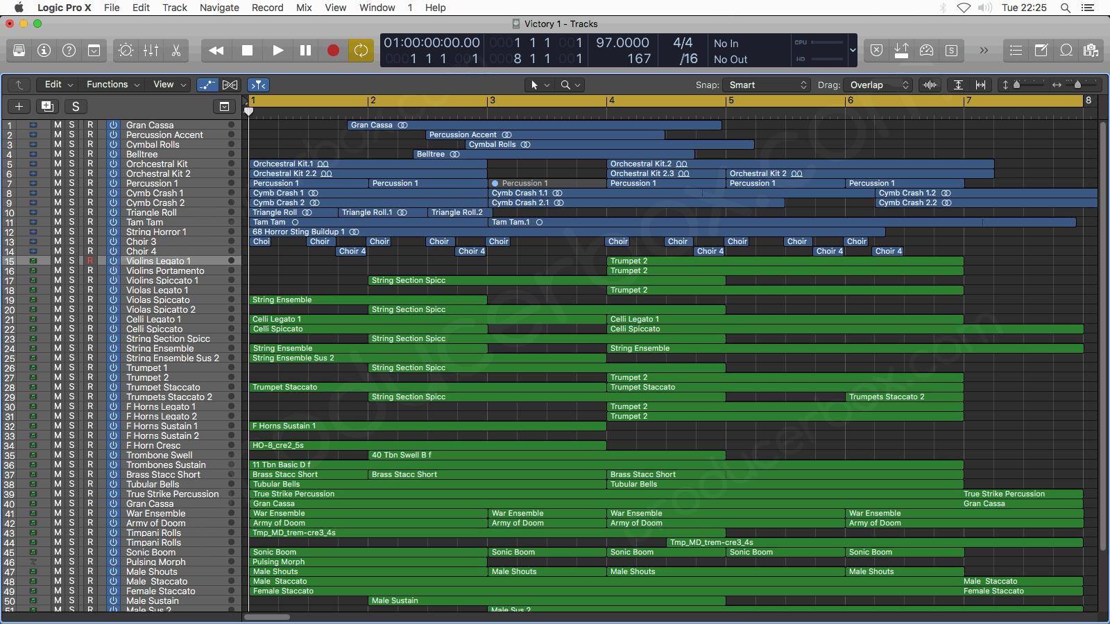 Victory - Logic Pro X Template Epic Orchestral Music Arrangement