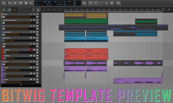 Bitwig Studio Project / Spinnin Artist Template Vol.1