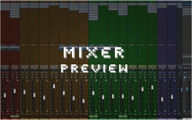 Studio One Mixer Window