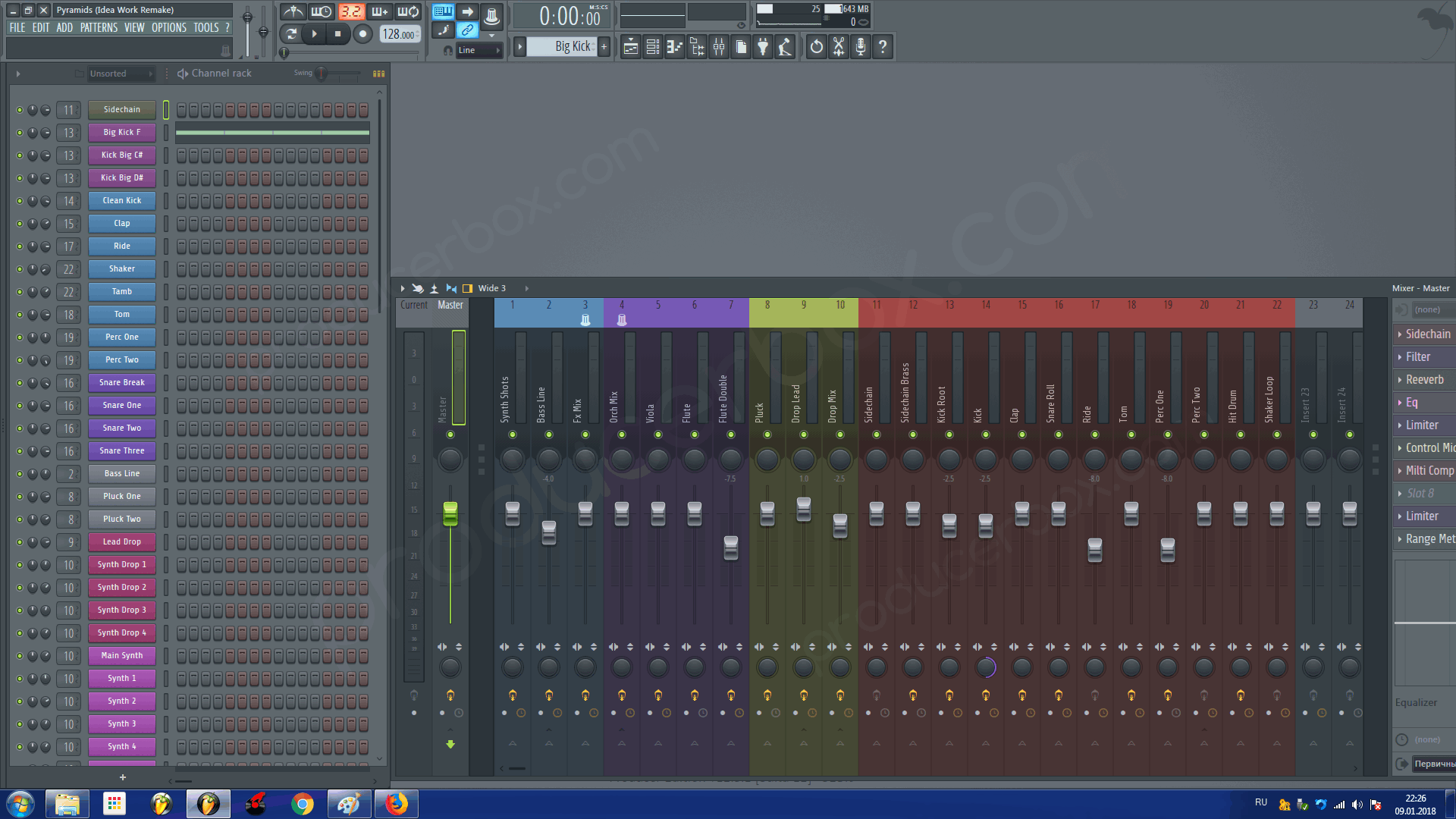 4 in 1 Electro House FL Studio Templates Bundle (DVBBS, Dropgun Style)