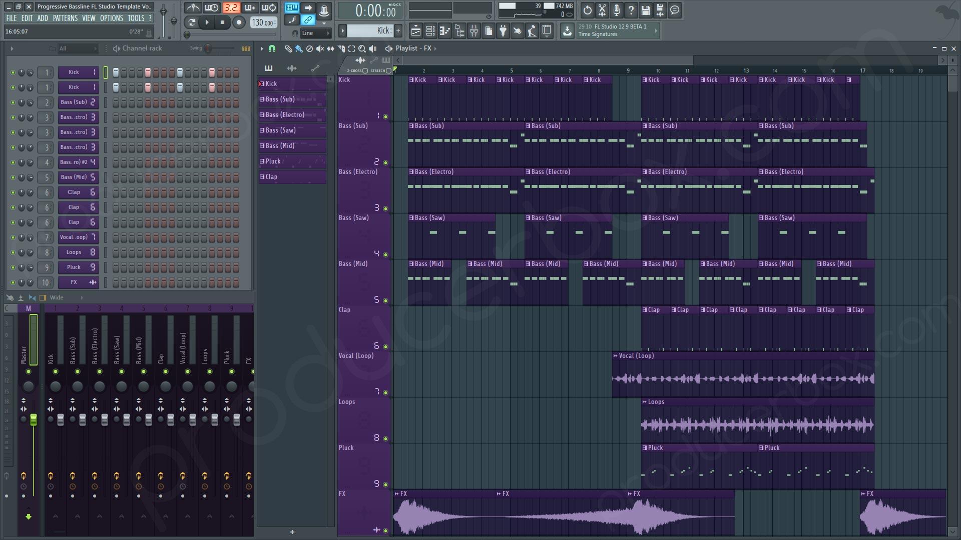 fl studio how to add a new pattern