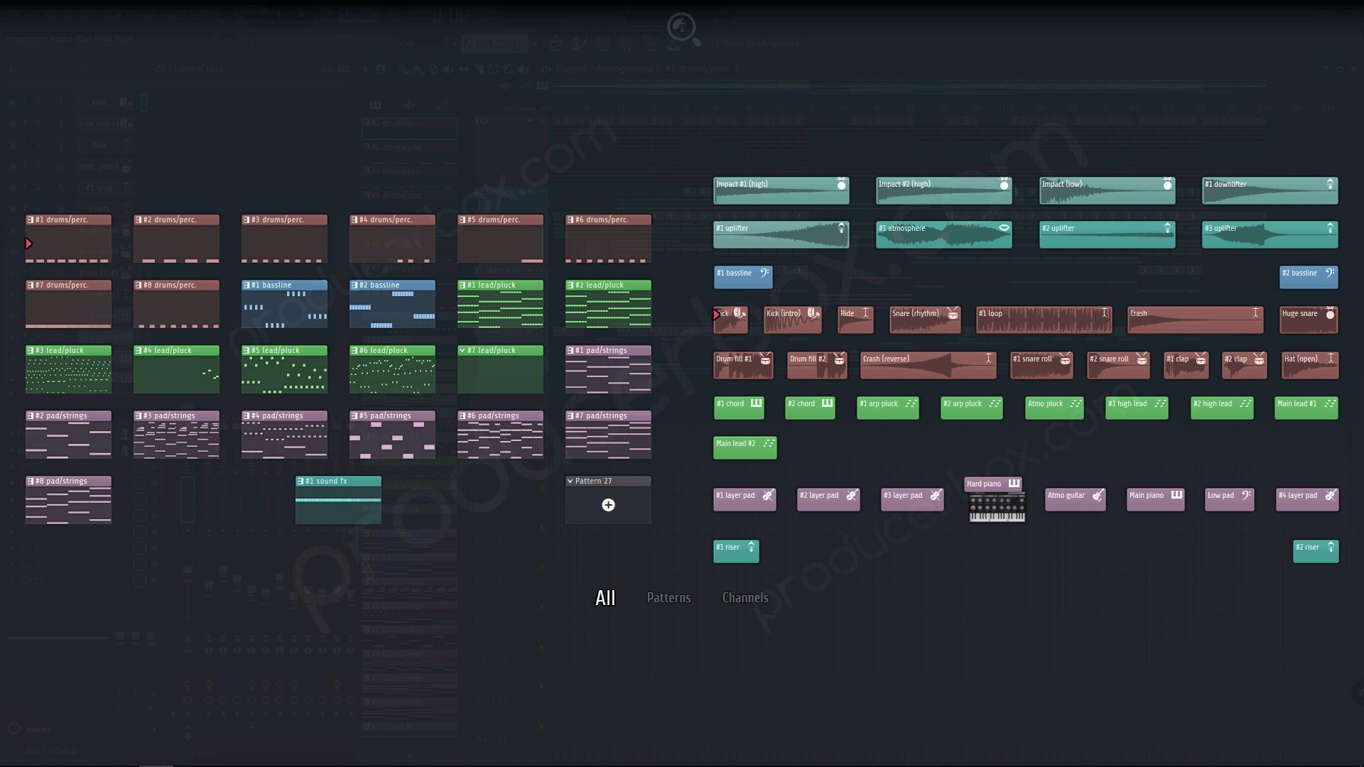 Progressive Trance FL Studio 20 Template (Ben Gold Style)