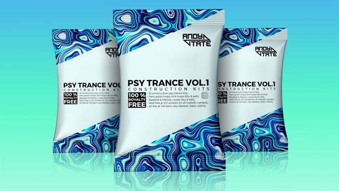 Andy Tate - Psy Trance Vol. 1 (10 Kits)