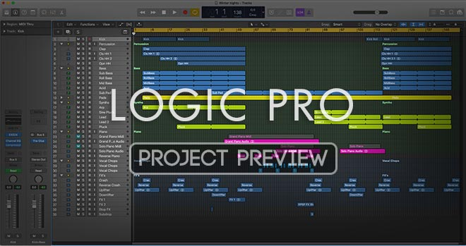 Logic Pro Project Preview