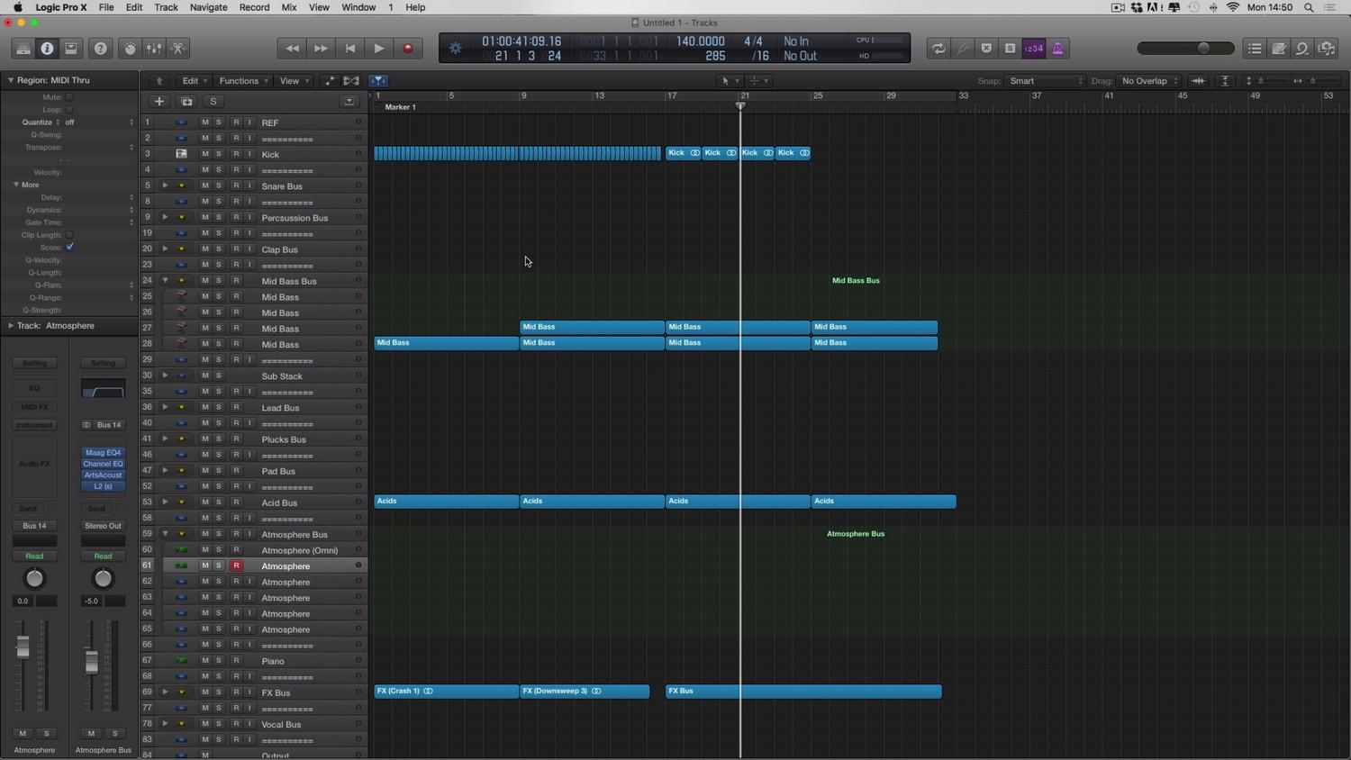 Adam Ellis - Logic Pro Tutorial Vol. 4 - Atmosphere Screenshot #2