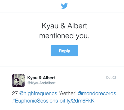 Kyau & Albert Twitter Mention