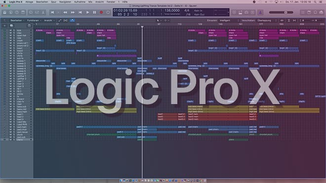 Driving Uplifting Trance Logic Pro X Template Vol. 2