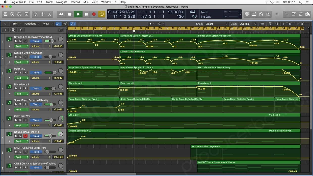 Logic Pro X Arrange Window