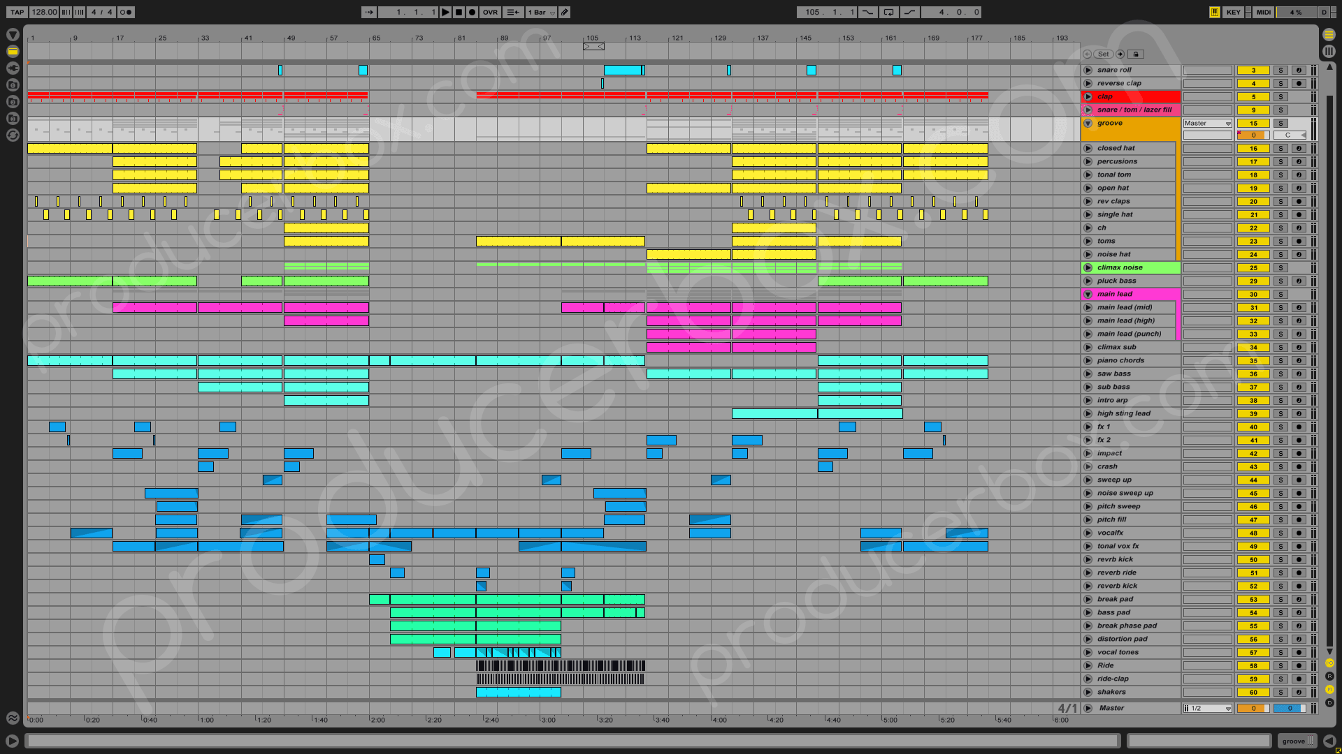 Progressive Trance Anjunabeats Style Ableton Template Producerbox