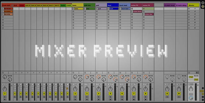 Ableton Live Mixer Screenshot