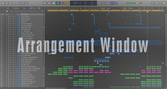 Logic Pro X Template Mixer Window
