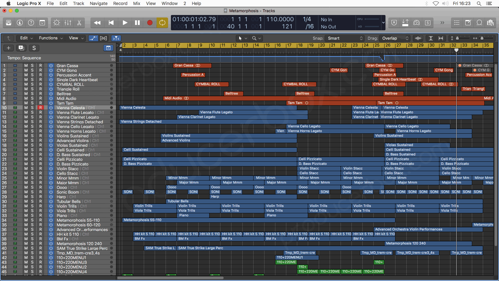 Metamorphosis - Logic Pro X Template by TrackSonix