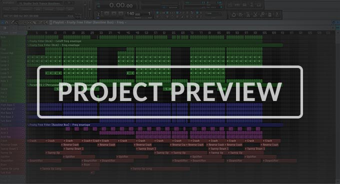 FL Studio Tech Trance Basslines Template Vol. 1
