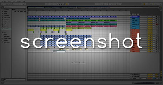 Ableton Live Screenshot Window / Project / Template
