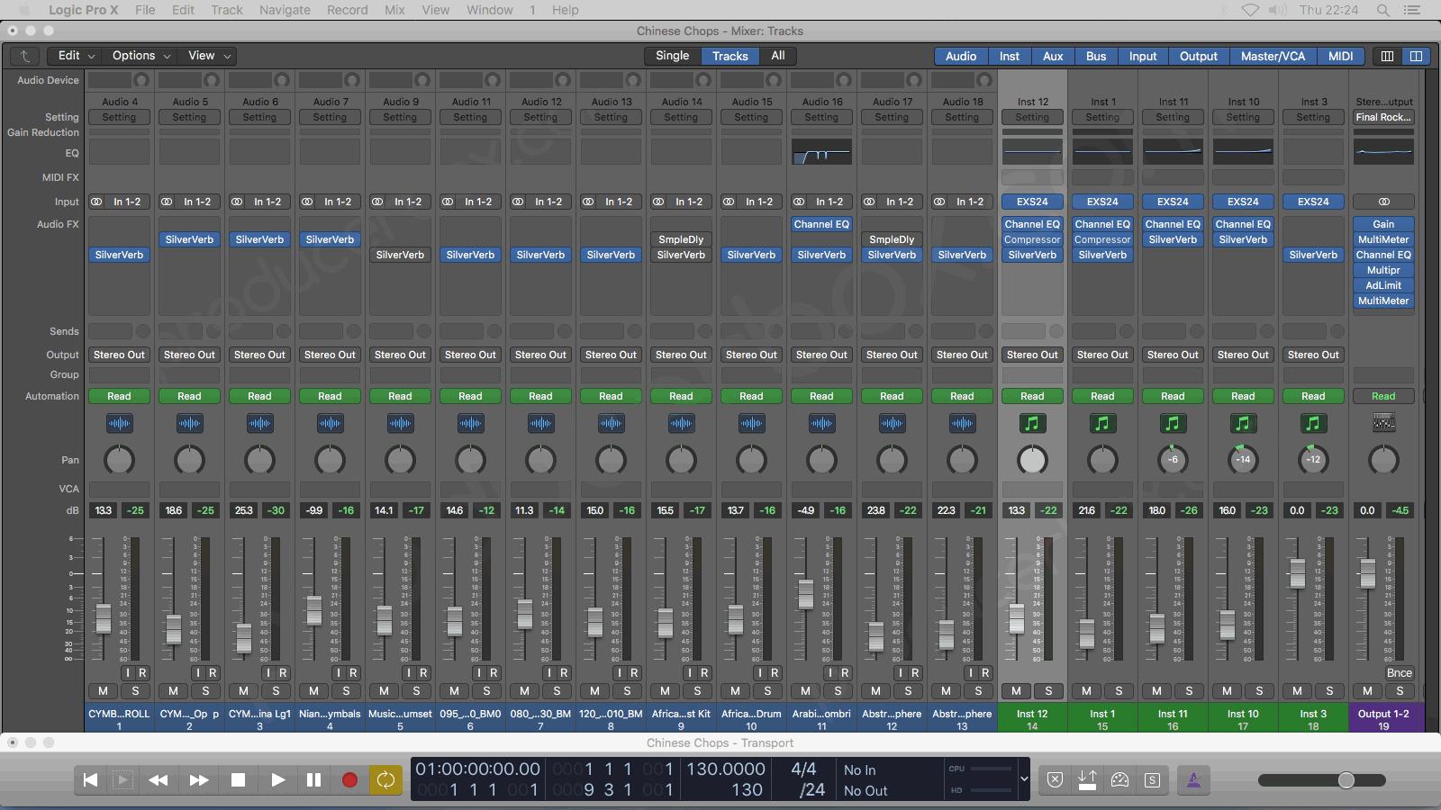 Chinese Chops - Logic Pro X Template (TrackSonix Style)