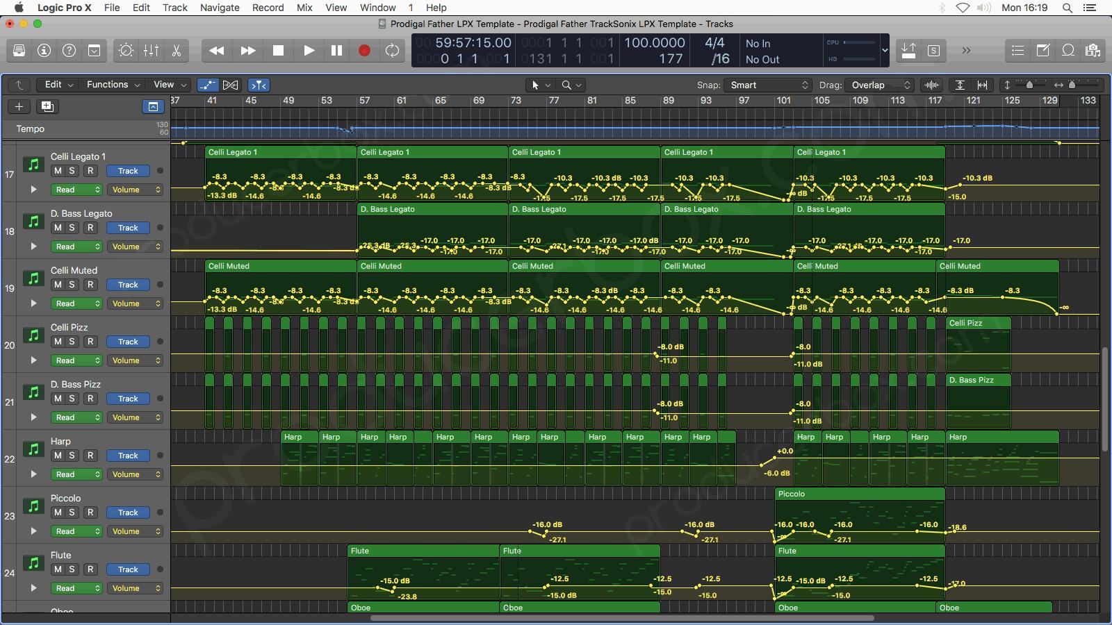 Logic Pro Arrangement Preview #1