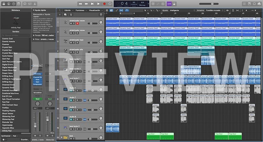 Last Line - Logic Pro X Template (R&B Synth Pop) Preview Screenshot