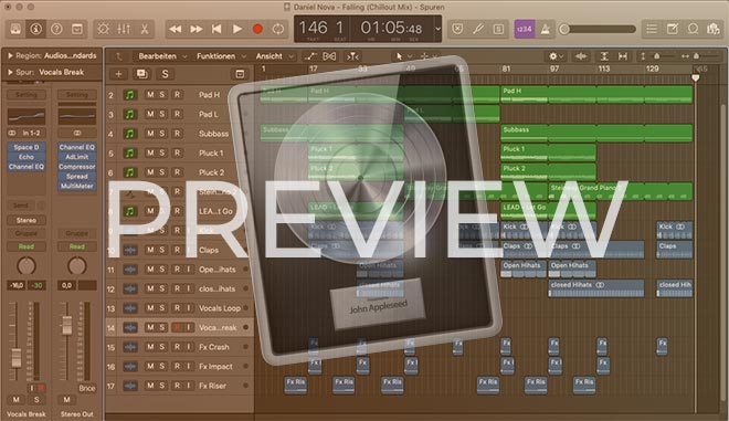 Logic Pro X Chillout Template Preview Screenshot